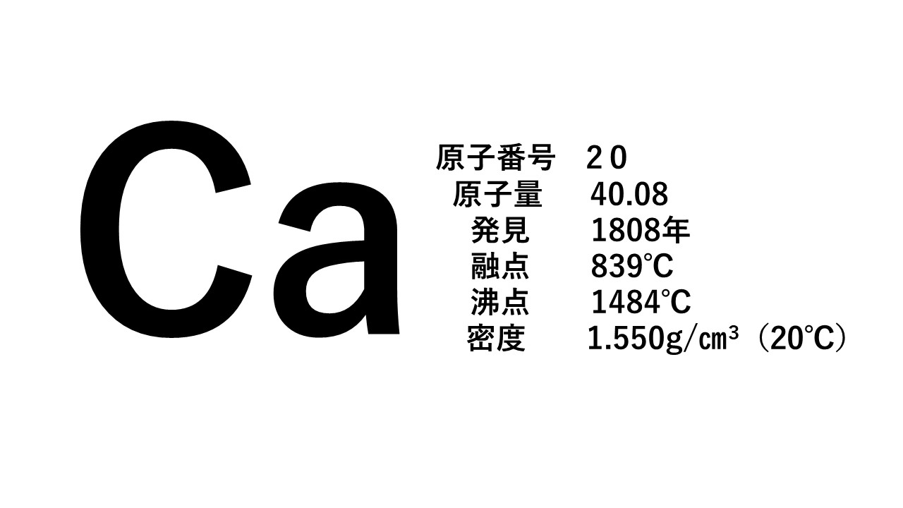 体を丈夫にしてくれるカルシウムCa